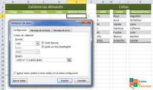 Excel - Lista desplegable (simple)